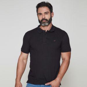 camiseta-masculina-gola-polo-frates-black-frente