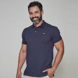 camiseta-masculina-gola-polo-frates-caminho-de-emaus-azul-frente