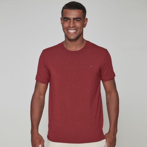 camiseta-masculina-gola-o-frates-basic-red-frente
