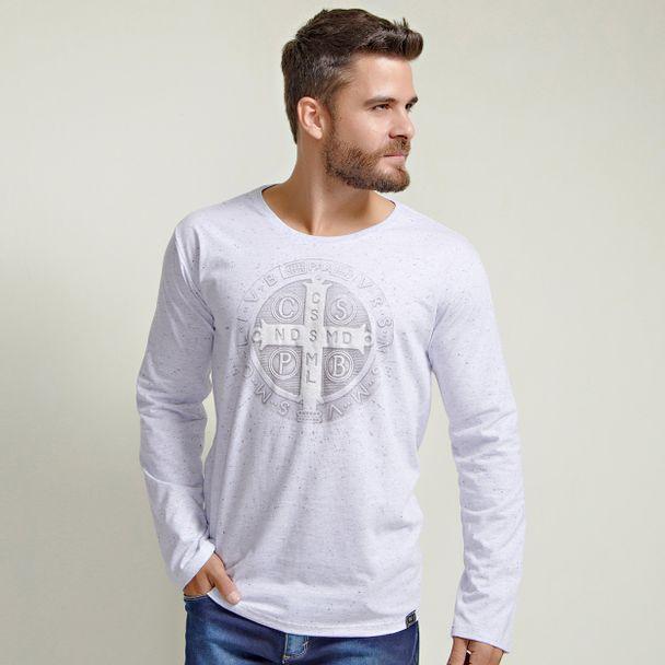 camiseta-medalha-de-sao-bento-cinza-mescla-frente