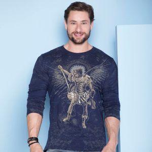 camiseta-sao-miguel-arcanjo-azul-marinho-frente