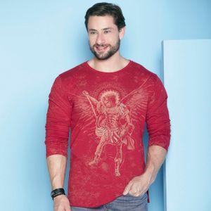 camiseta-sao-miguel-arcanjo-vermelho-frente