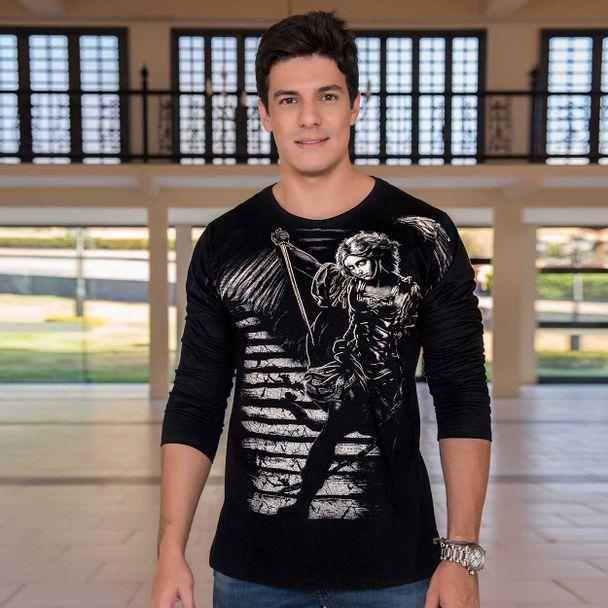 camiseta-sao-miguel-arcanjo-preto-frente