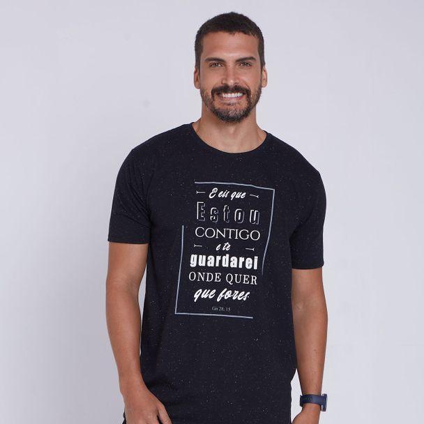 camiseta-eis-que-estou-contigo-preto-frente
