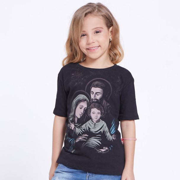 blusa-infantil-sagrada-familia-menina-preto-frente