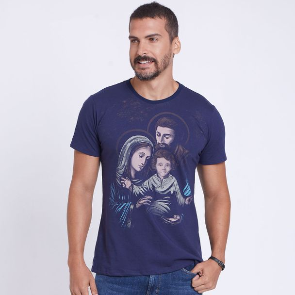camiseta-sagrada-familia-azul-marinho-frente