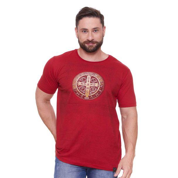 camiseta-medalha-de-sao-bento-vermelho-frente