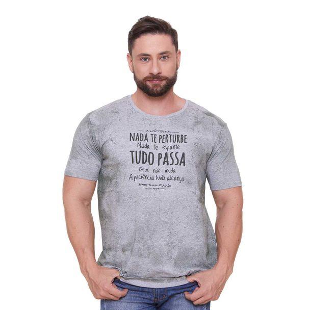 camiseta-nada-te-perturbe-cinza-frente