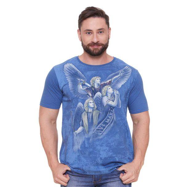 camiseta-tres-arcanjos-azul-frente