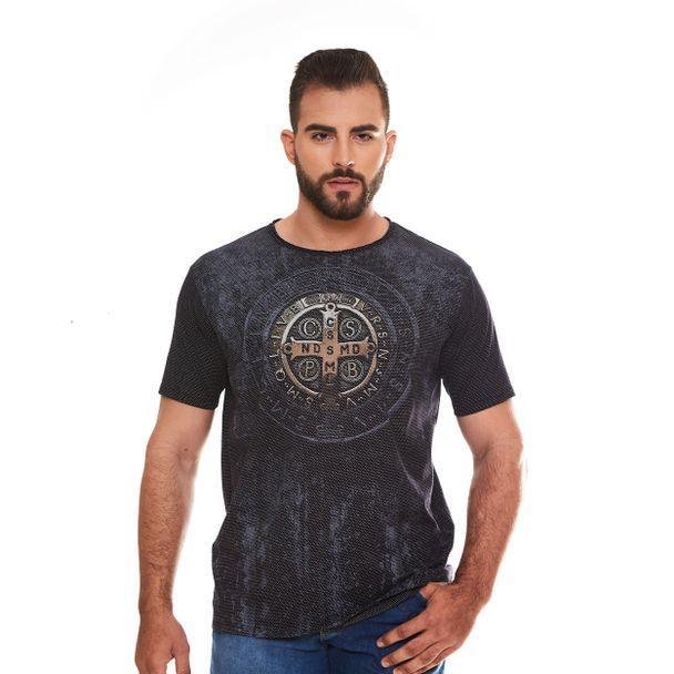camiseta-medalha-de-sao-bento-preto-frente