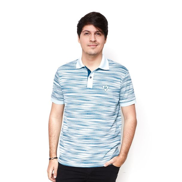 Camiseta Gola Polo Fé MS9636 AZUL P