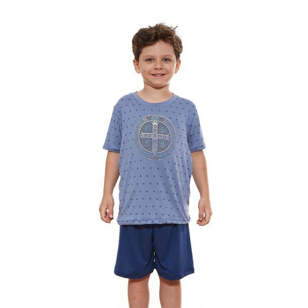pijama-infantil-medalha-de-sao-bento-azul-frente