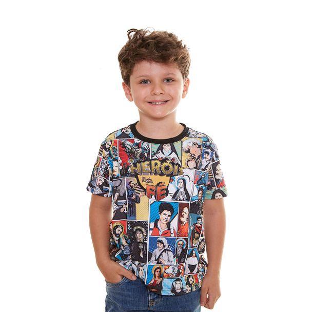 Camiseta Infantil Heróis da Fé DV9716...