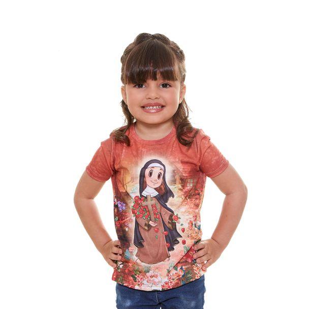 Baby Look infantil Santa Teresinha AK9...