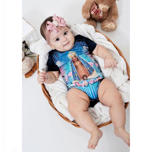 Body Bebê Aparecidinha BB9567 AZUL RN